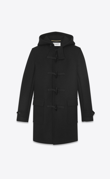 SAINT LAURENT Coats Woman duffle coat in black wool b_V4