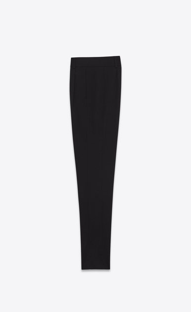 SAINT LAURENT Classic Pant Woman low waisted trousers in black virgin wool twill b_V4