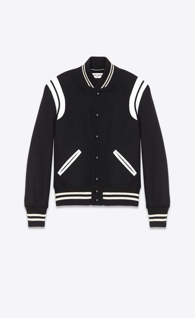 teddy jacket in black wool