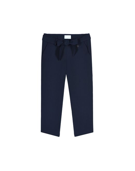 NAVY BLUE BOW PANTS - Lanvin