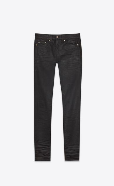 coated skinny denim pants