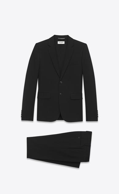 SAINT LAURENT Suits Man suit in black gabardine virgin wool a_V4