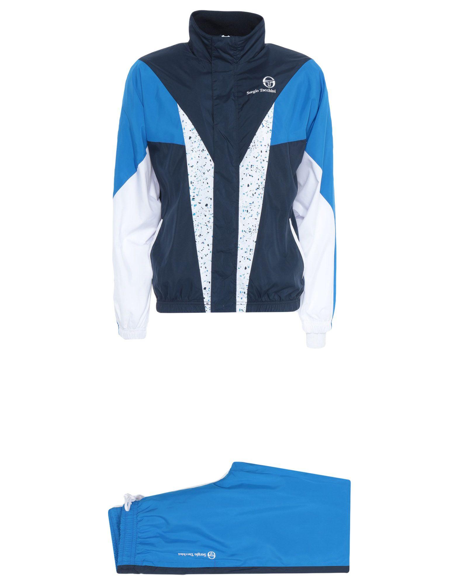 《セール開催中》SERGIO TACCHINI メンズ スウェットスーツ ダークブルー S ポリエステル 100%