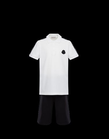 Moncler Junior 8-10 Years - Boy Man: POLO WITH SHORTS
