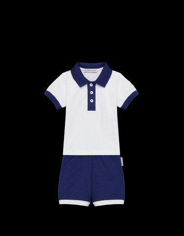 TWO-PIECE SET Dark blue Category Polo Shirt with Shorts Man