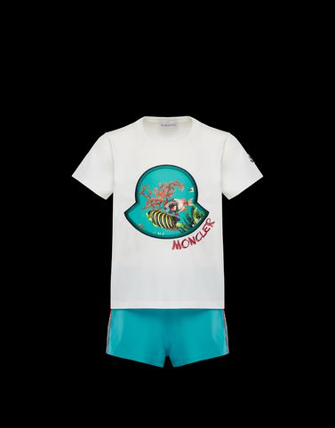Moncler Kids 4-6 Years - Girl Woman: T-SHIRT WITH SHORTS