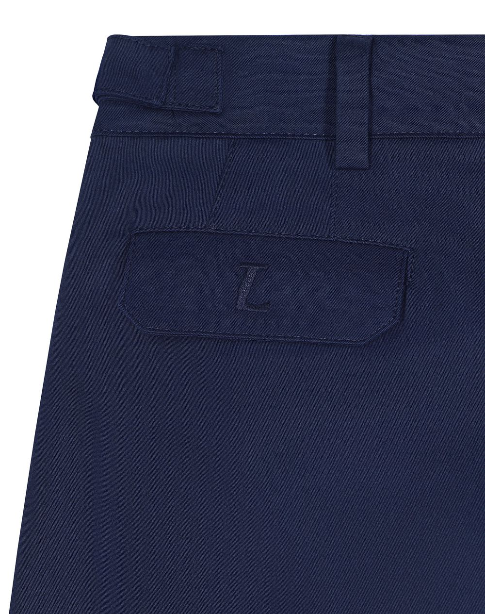 NAVY BLUE CHINO SHORTS     - Lanvin