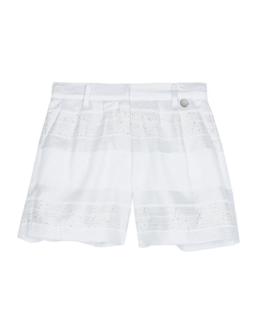 WHITE AND SILVER BERMUDA SHORTS   - Lanvin