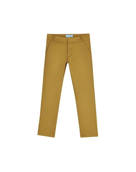 BEIGE STRAIGHT-LEG TROUSERS  - Lanvin