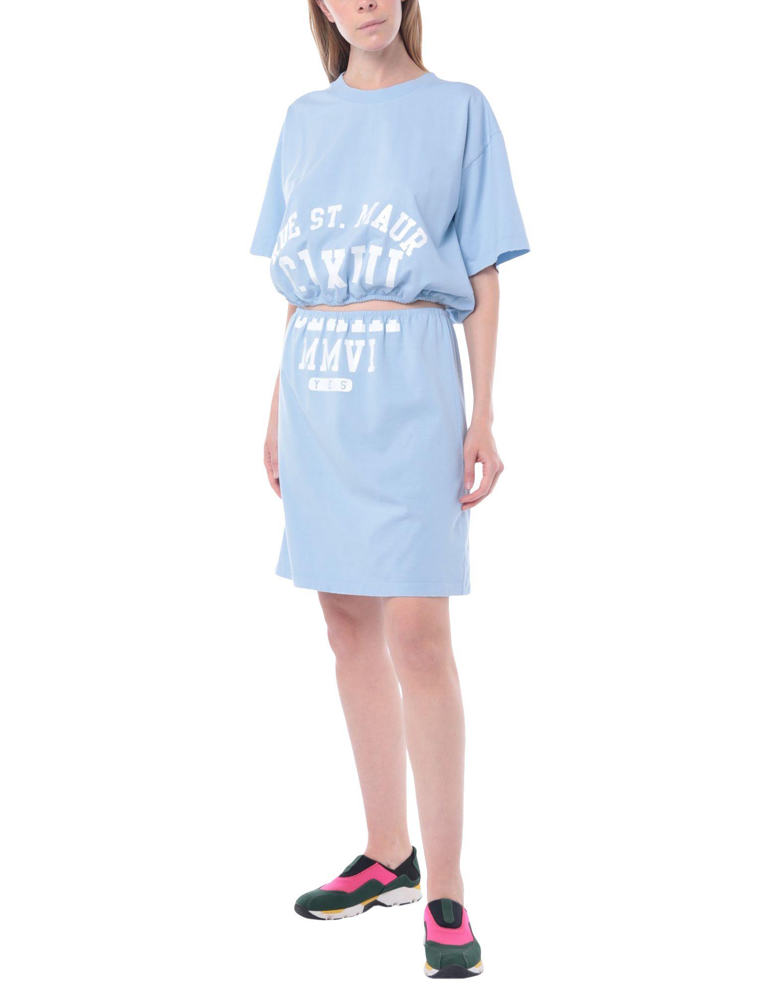 MM6 MAISON MARGIELA Tracksuits. jersey, print, logo, solid color, round collar, no pockets, short sleeves, 2-piece set. 100% Cotton, Elastane