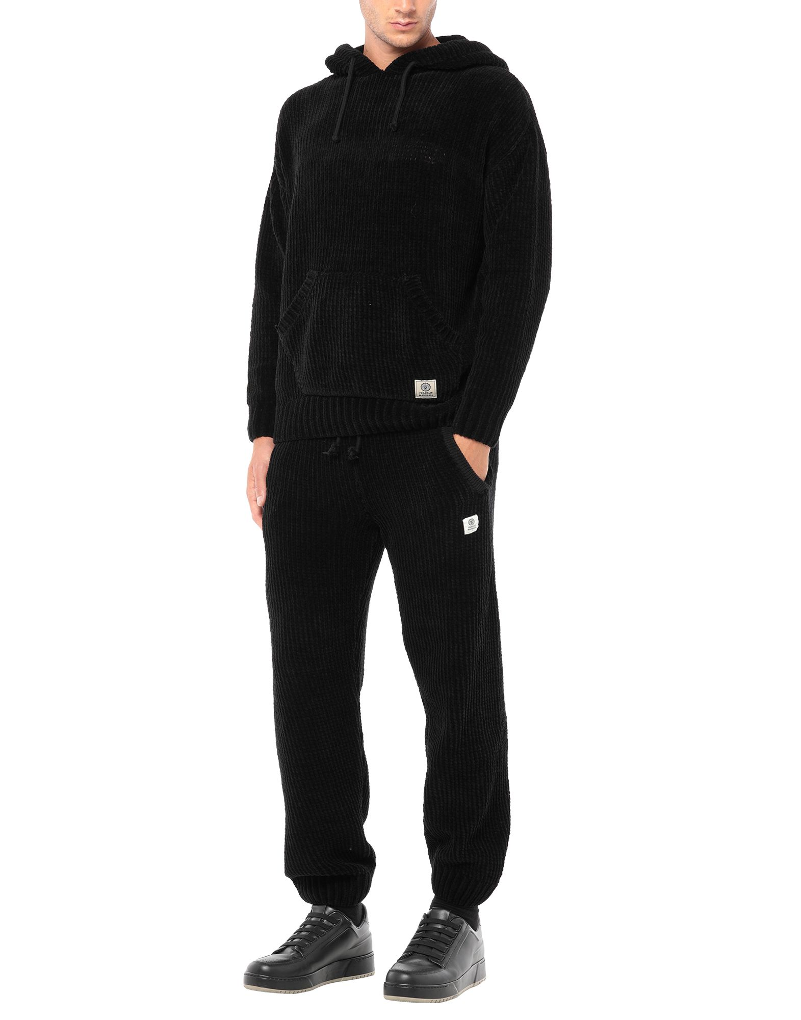 《セール開催中》FRANKLIN &MARSHALL メンズ スウェットスーツ ブラック L コットン 82% / ポリアクリル 11% / ウール 5% / ナイロン 2%