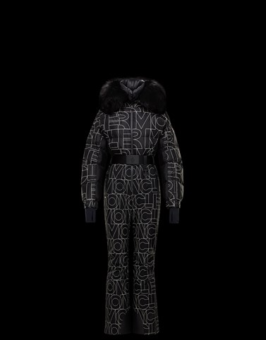 SKI SUIT Black Grenoble Ski Suits Woman