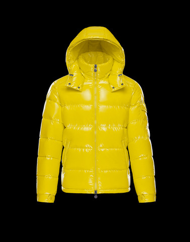 MAYA Yellow Down Jackets Man