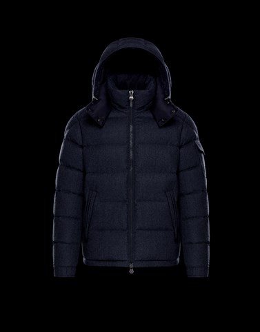 MONTGENEVRE Blue Down Jackets Man