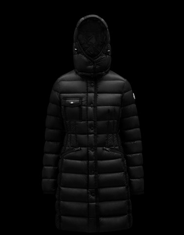 HERMINE Black Long Down Jackets
