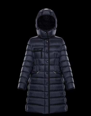 HERMINE Dark blue Long Down Jackets
