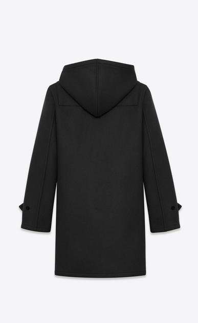 SAINT LAURENT Coats U Classic Duffle Coat in Black Wool b_V4