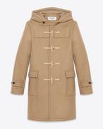 SAINT LAURENT Coats U CLASSIC DUFFLE COAT IN CAMEL WOOL f