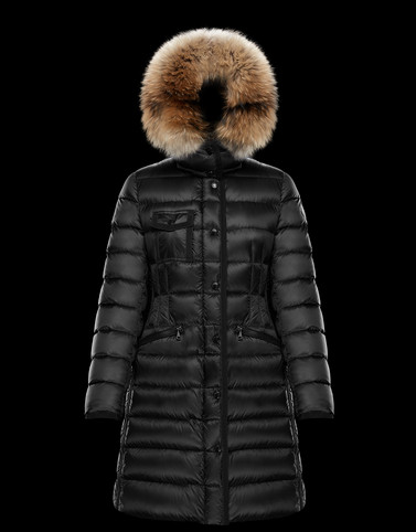 HERMIFUR Black Long Down Jackets Woman