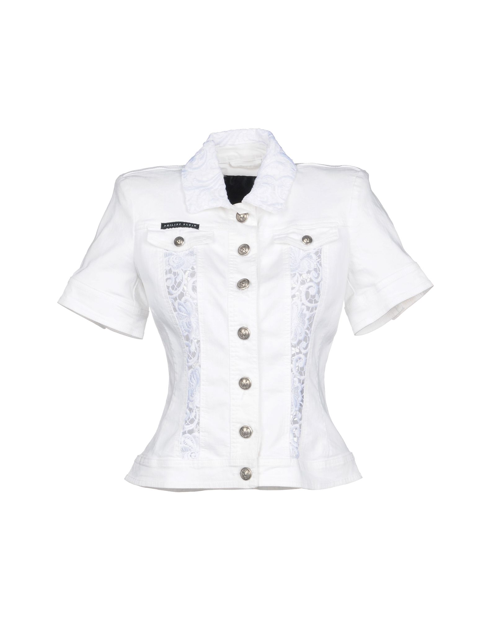 PHILIPP PLEIN Джинсовая верхняя одежда футболка via montenapoleone philipp plein