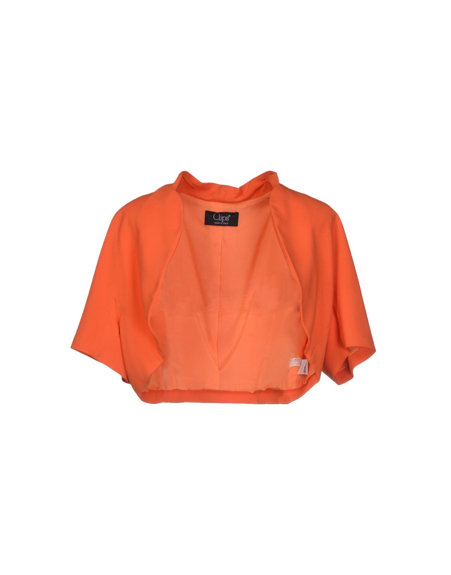 CLIPS Damen Bolero Farbe Orange Größe 4