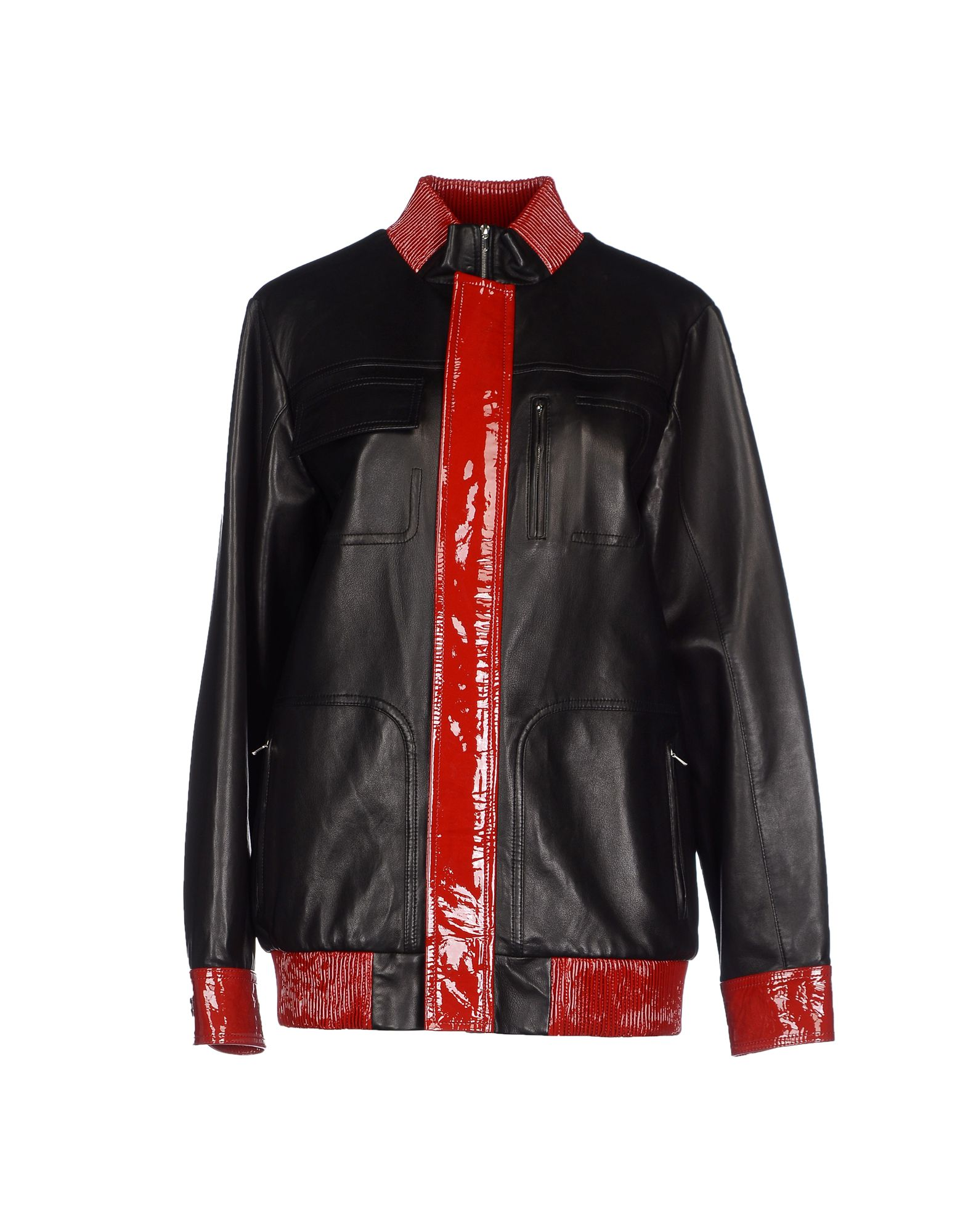 ANTHONY VACCARELLO Leather Jacket in Black