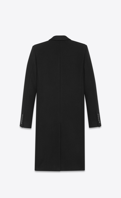 SAINT LAURENT Coats D CLASSIC CHESTERFIELD COAT IN BLACK WOOL b_V4