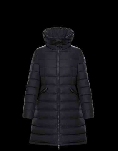 FLAMMETTE Black Long Down Jackets