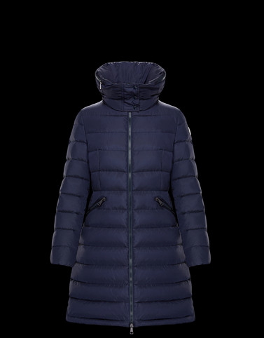 FLAMMETTE Blue Long Down Jackets Woman
