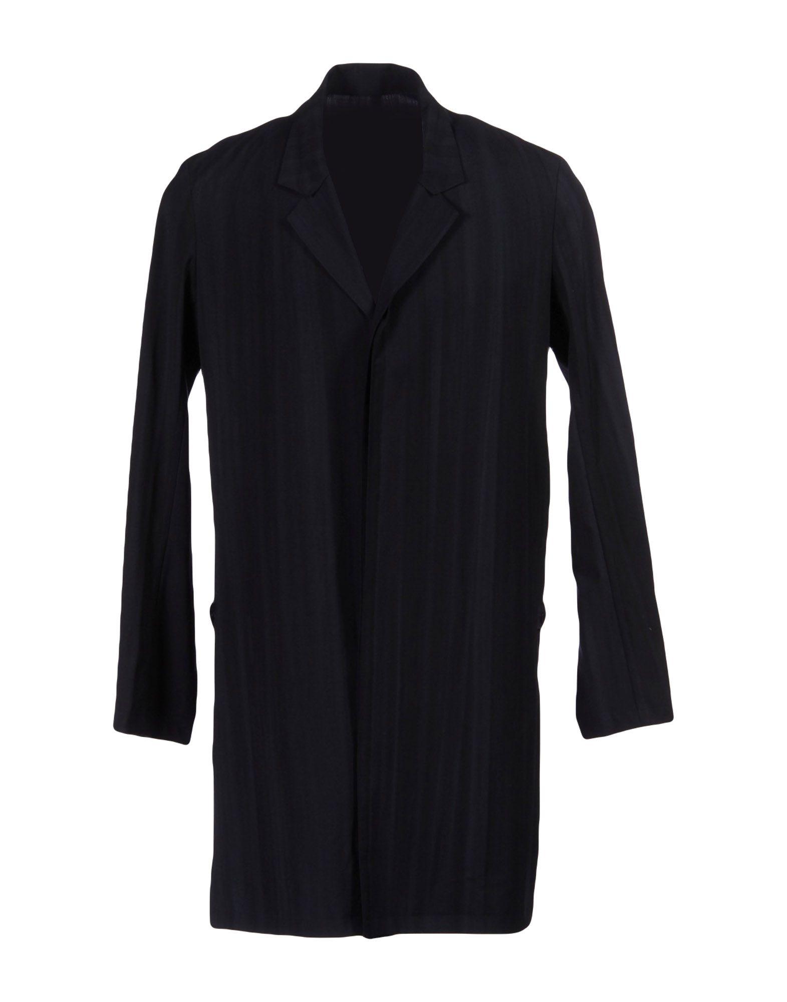 TILLMANN LAUTERBACH Full-Length Jacket in Dark Blue