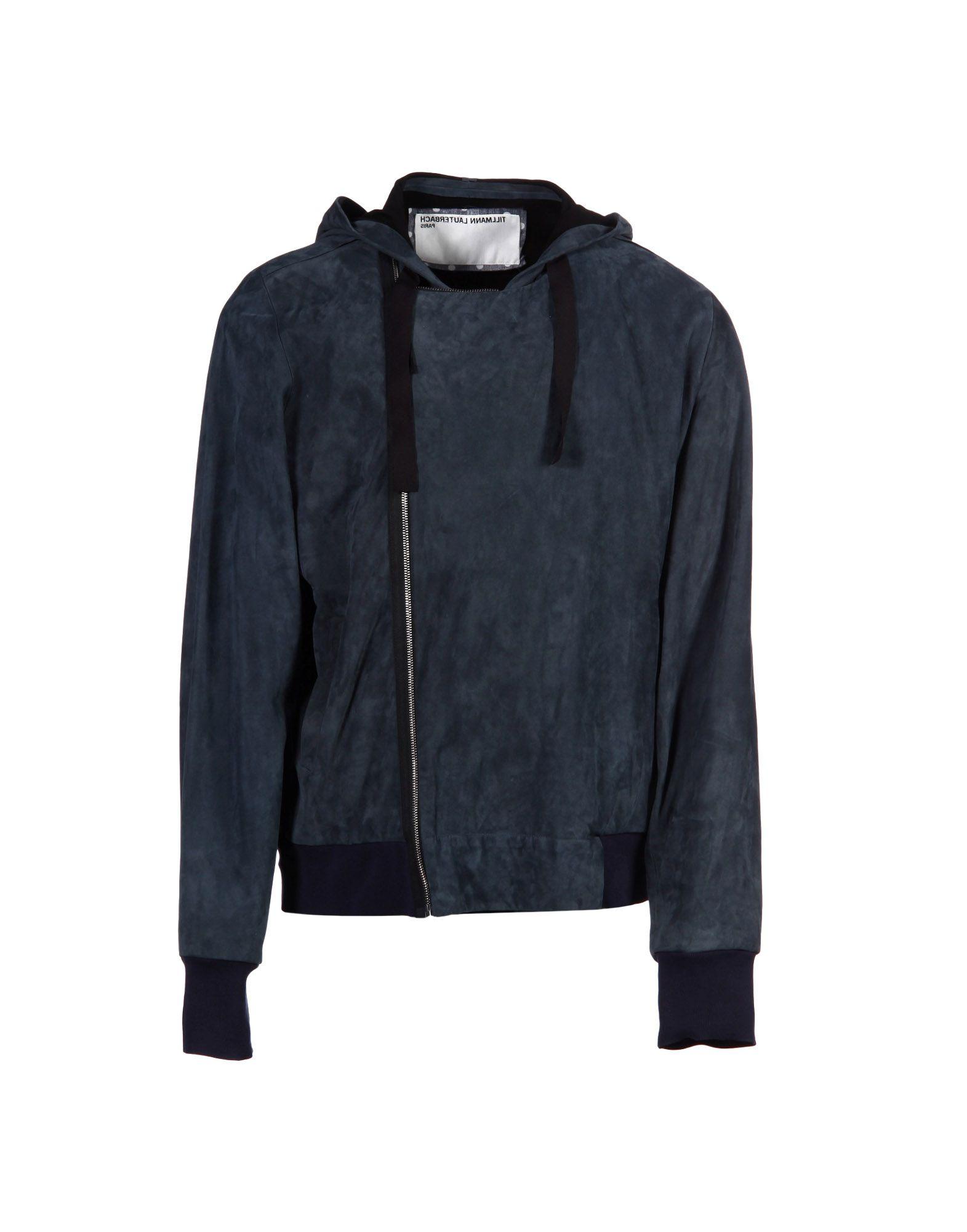 TILLMANN LAUTERBACH Leather Jacket in Slate Blue