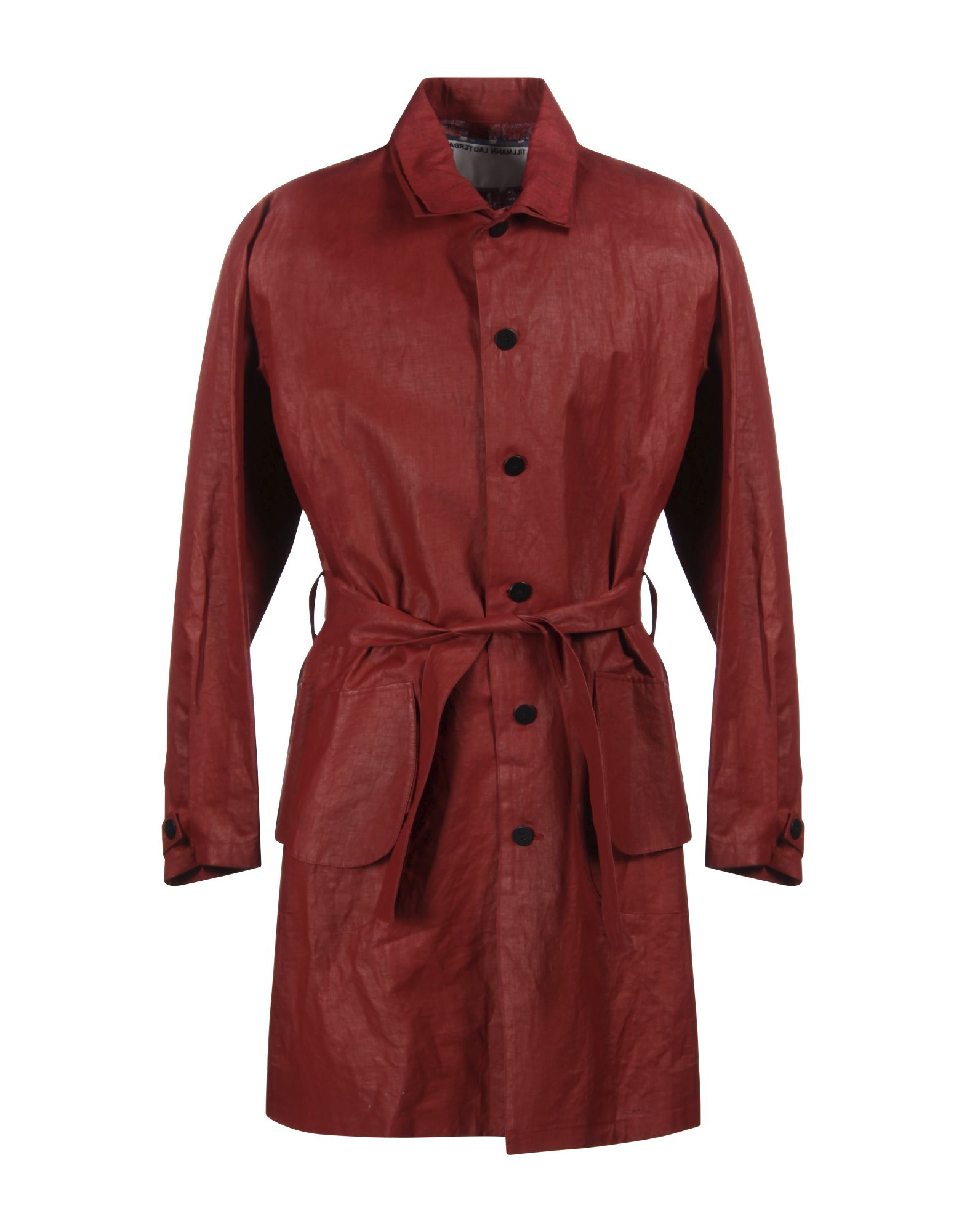 TILLMANN LAUTERBACH Full-Length Jacket in Red