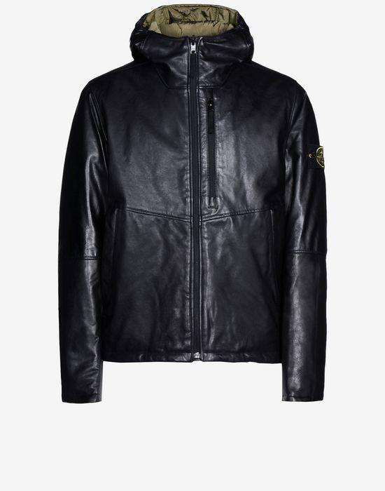 Leather Jacket 00277 WAXED SOFT LEATHER WITH PRIMALOFT® INSULATION TECHNOLOGY STONE ISLAND - 0
