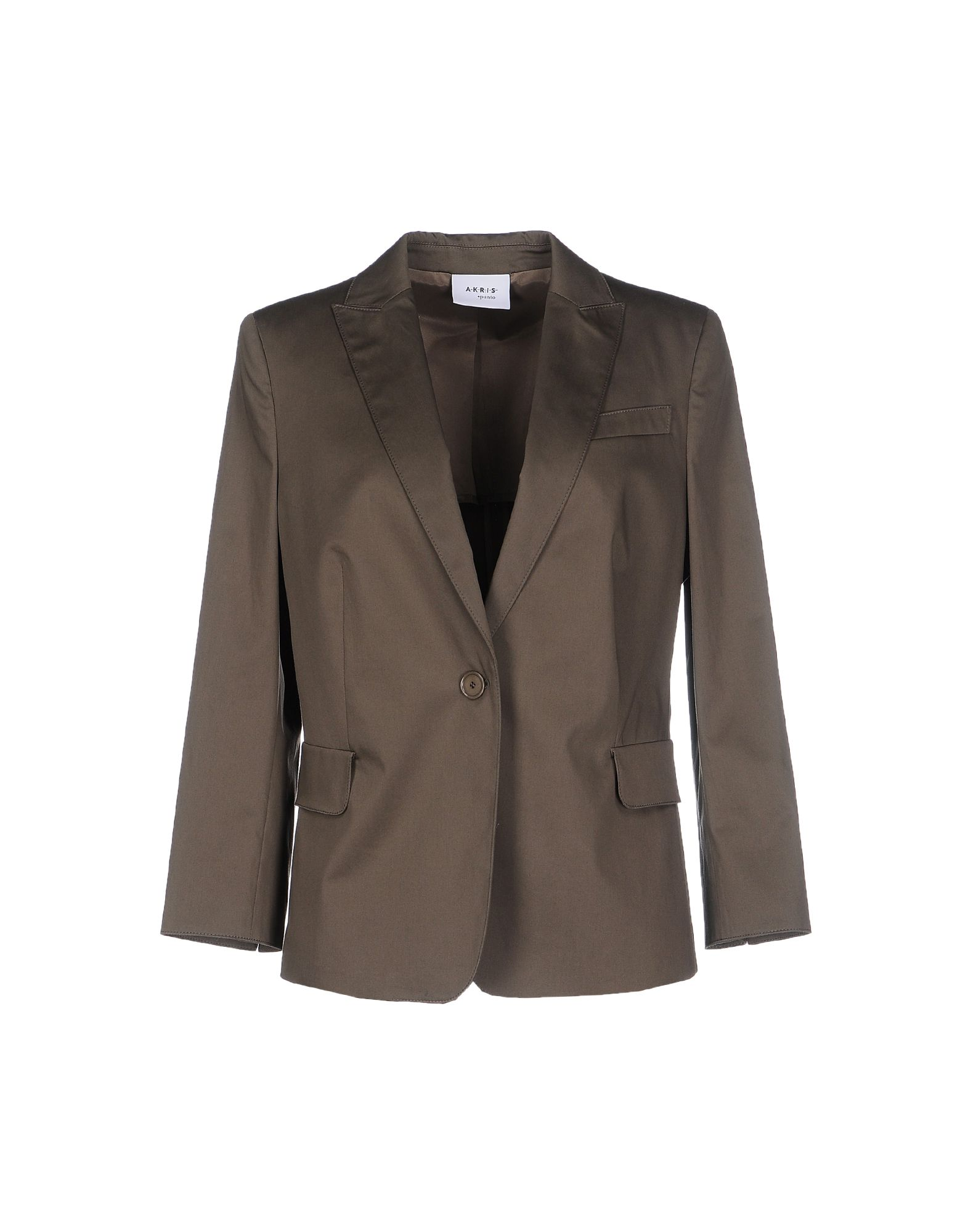 AKRIS PUNTO Suit jackets. plain weave, solid color, lapel collar, single-breasted, button closing, single chest pocket, multipockets, long sleeves, semi-lined interior. 96% Cotton, 4% Elastane