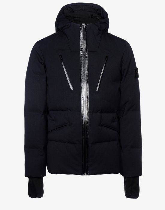 Mid-length jacket 41932 WATER REPELLENT WOOL - DOWN FILLED STONE ISLAND - 0