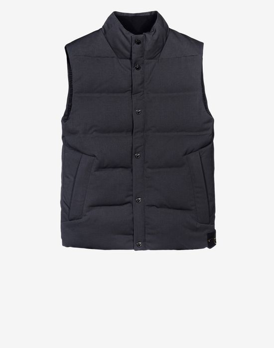 Gilet G0432 WATER REPELLENT WOOL - DOWN FILLED STONE ISLAND - 0