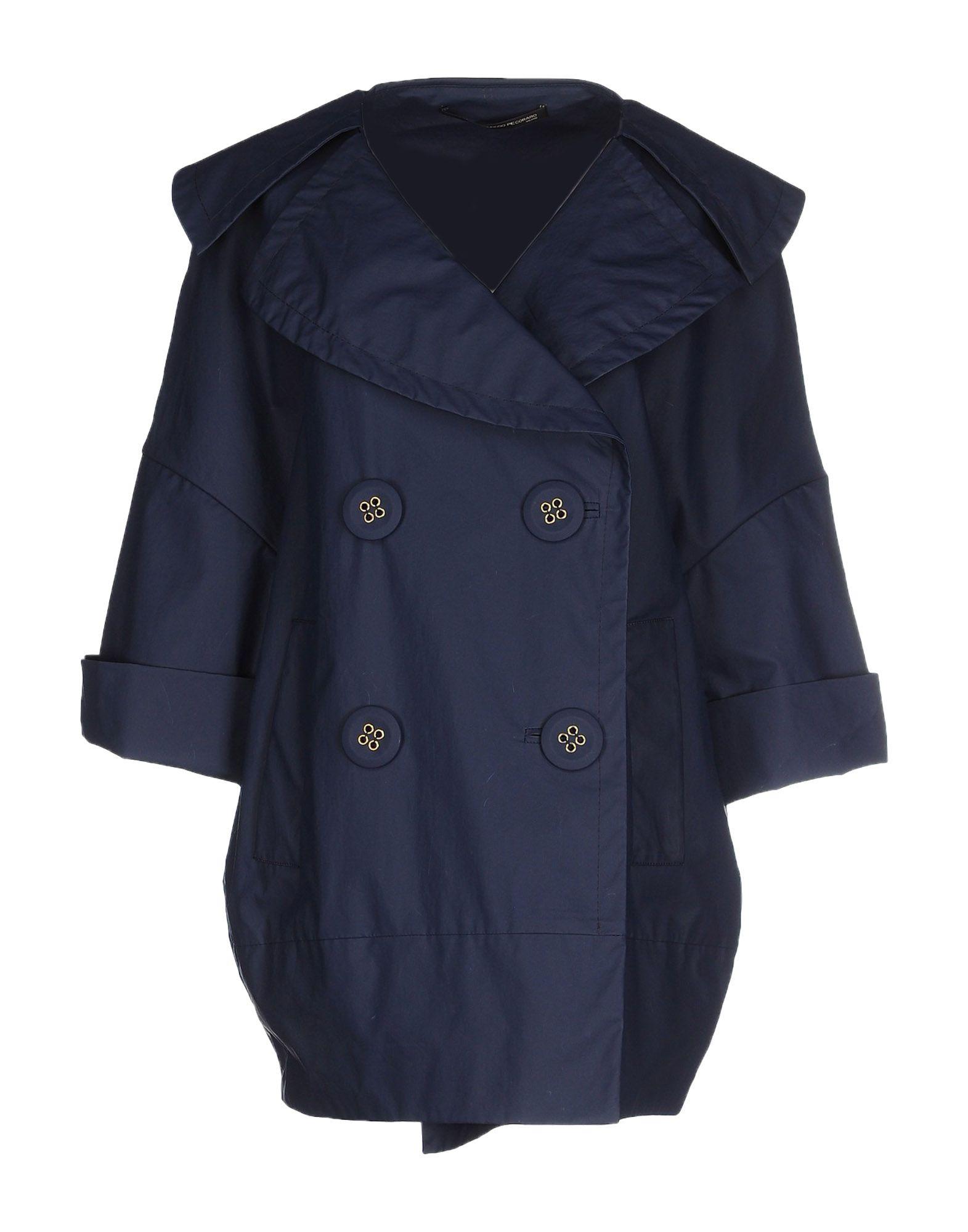 MAURIZIO PECORARO Full-Length Jacket in Dark Blue