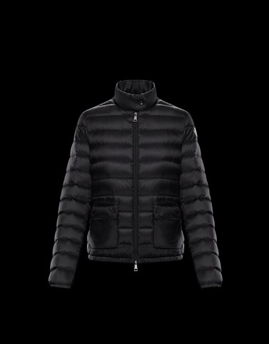 LANS Black Short Down Jackets Woman