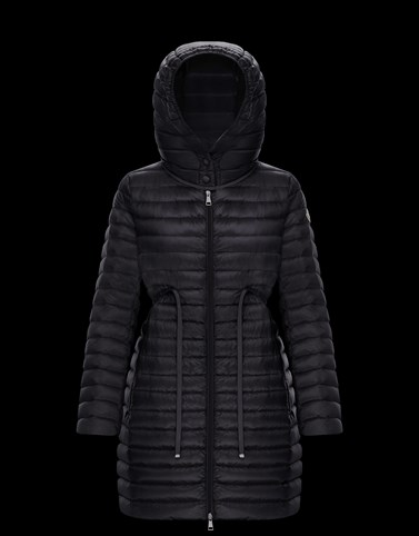 BARBEL Black Short Down Jackets Woman