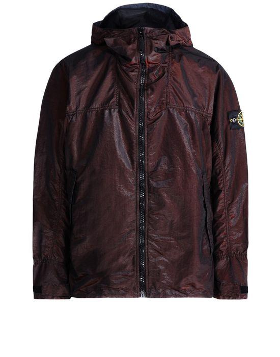 Mid-length jacket 44448 NYLON METAL WATRO - RED WEFT STONE ISLAND - 0