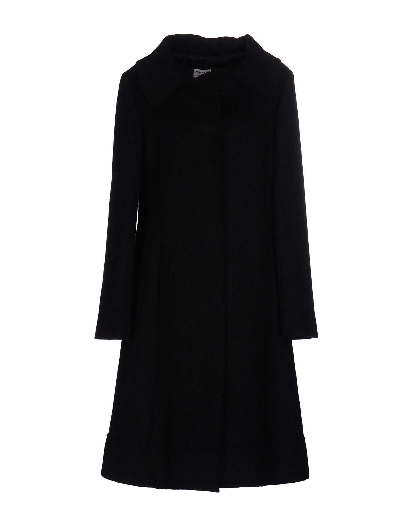 PHILOSOPHY DI ALBERTA FERRETTI Full-Length Jacket in Black