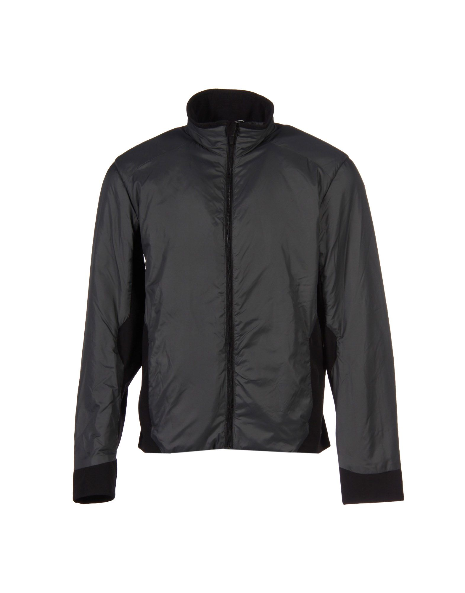 AETHER Boundary Panelled Padded Bomber Jacket in Charcoal