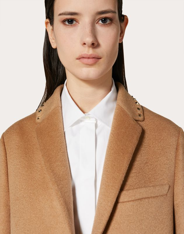ROCKSTUD UNTITLED CAMEL COAT
