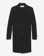 SAINT LAURENT Manteaux U manteau chesterfield en laine vierge et cachemire noirs f
