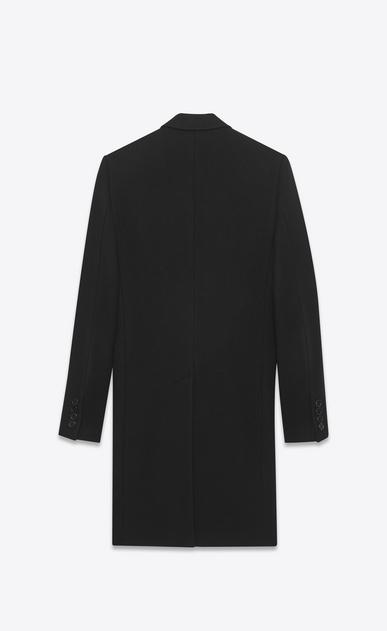 SAINT LAURENT Coats U classic chesterfield black virgin wool and cashmere b_V4