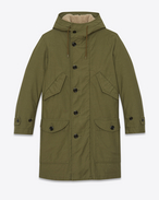 SAINT LAURENT Coats U m51 parka in washed khaki cotton canvas f