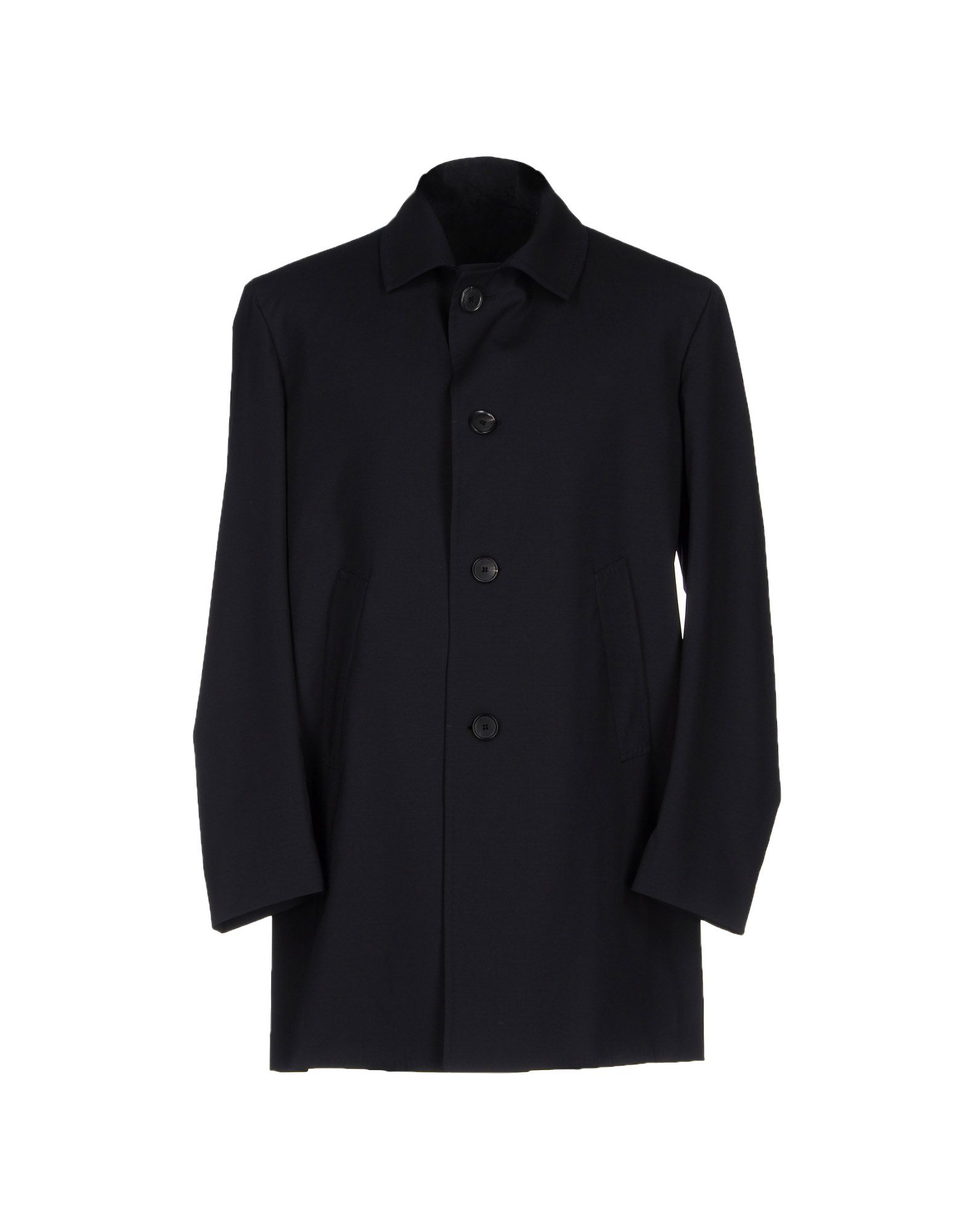 SALVATORE PICCOLO Full-Length Jacket in Dark Blue