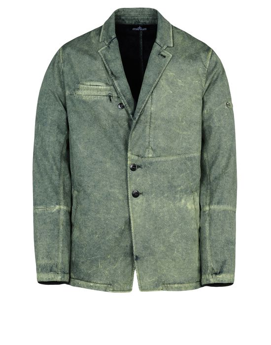 Blazer A0301 DROP BLAZER _ RASO-R WITH  FALLOUT COLOUR TREATMENT<br>WEATHER RESISTANT BREATHABLE 3L COMPOSITE FABRIC  STONE ISLAND SHADOW PROJECT - 0