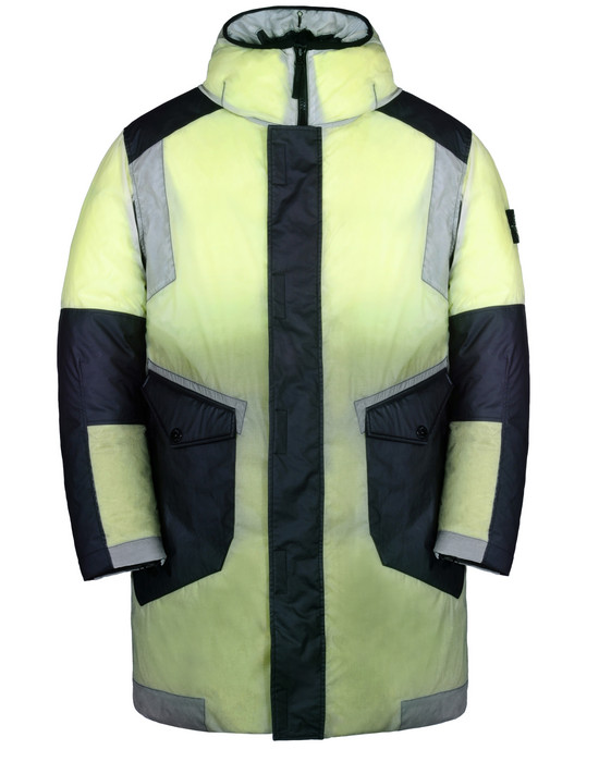 Mid-length jacket 70999 ICE JACKET RESIN-T SHELL DOWN STONE ISLAND - 0