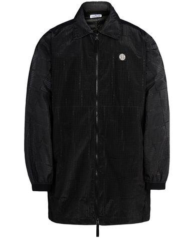 STONE ISLAND Jacket 460J4 STONE ISLAND HOUSE CHECK JACQUARD ON NYLON METAL BLACK WATRO _ PACKABLE
